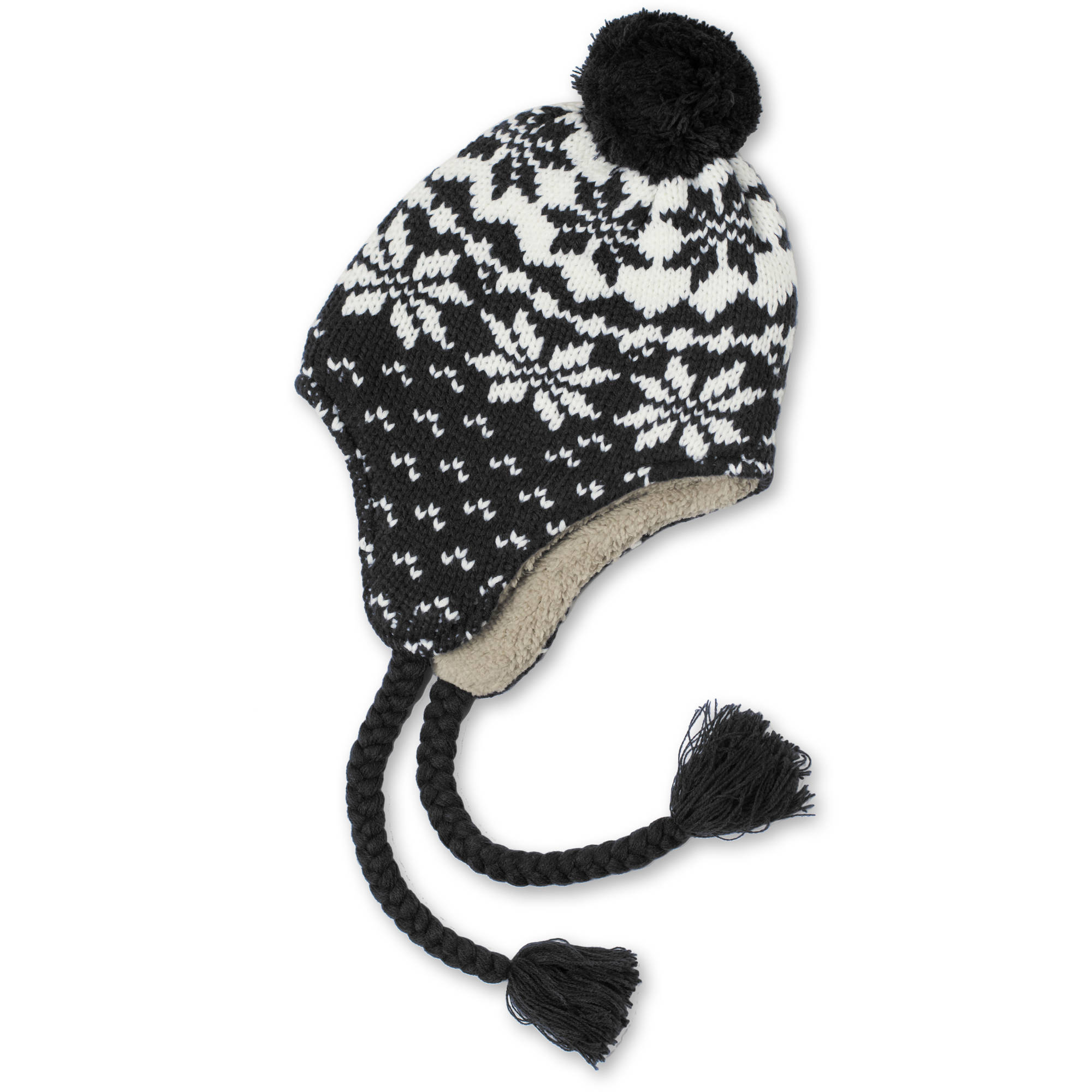 Faded Glory Women's Fair Isle Trapper Hat - Walmart.com