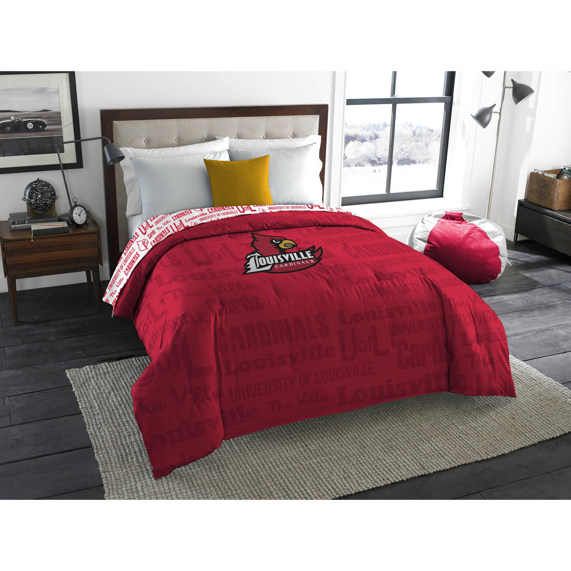 "NCAA Louisville Cardinals ""Anthem"" Twin/Full Bedding Comforter"