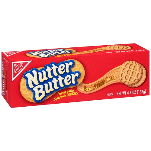 Nutter Butter Peanut Butter Sandwich Cookies, 4.8 oz