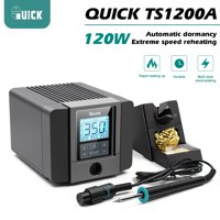 120W QUICK TS1200A Lead-free Soldering station Electric Iron Anti-static Soldering 8 Second Fast Heating Welding Repair Tool 220V