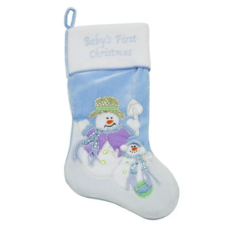 Blue Christmas Stocking (20
