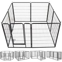 Yaheetech Heavy Duty Pet Playpen, Black, 8 Panel