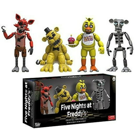 FUNKO ARTICULATED ACTION FIGURE: FIVE NIGHTS AT FREDDY'S - 4 FIGURE PACK (2), SET 1 (Halloween At Freddy's Tryhardninja)