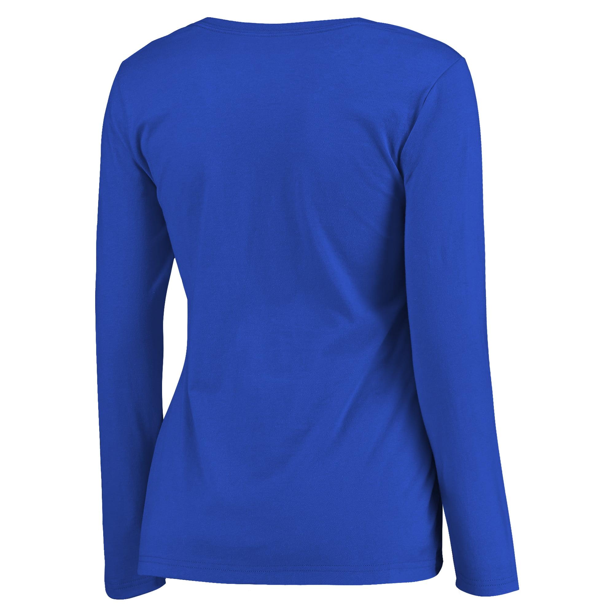 92fb9369e129 Golden State Warriors Fanatics Branded Women's 2017 NBA Finals Champions  Repeat Plus Size Long Sleeve T-Shirt - Royal - Walmart.com
