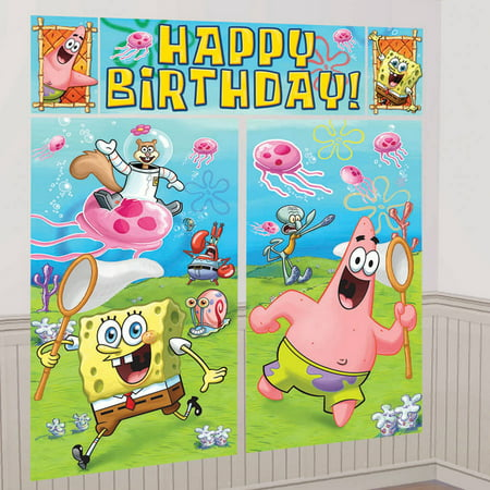 SpongeBob Scene Setter Decoration Set (Jungle Scene Setter)