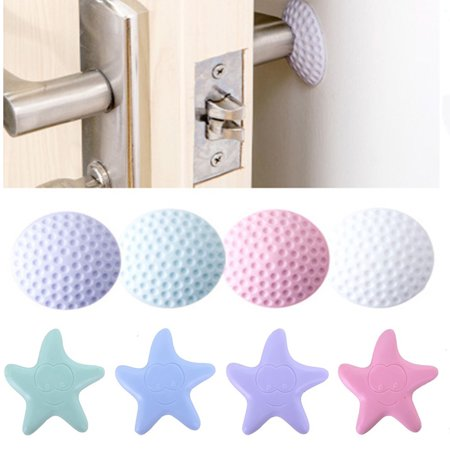 1X Thicken Rubber Wall Guard Self-Adhesive Door Handle Bumper Stopper Protector Color:Round White - image 6 of 8