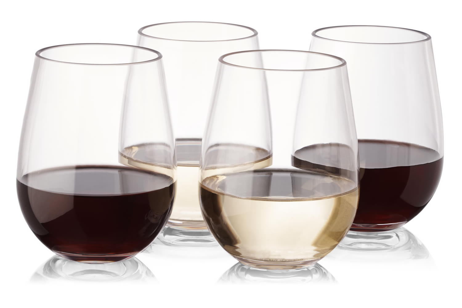 plastic outdoor wine glasses set of 8 stemless unbreakable reusable high - Plastic Stemless Wine Glasses