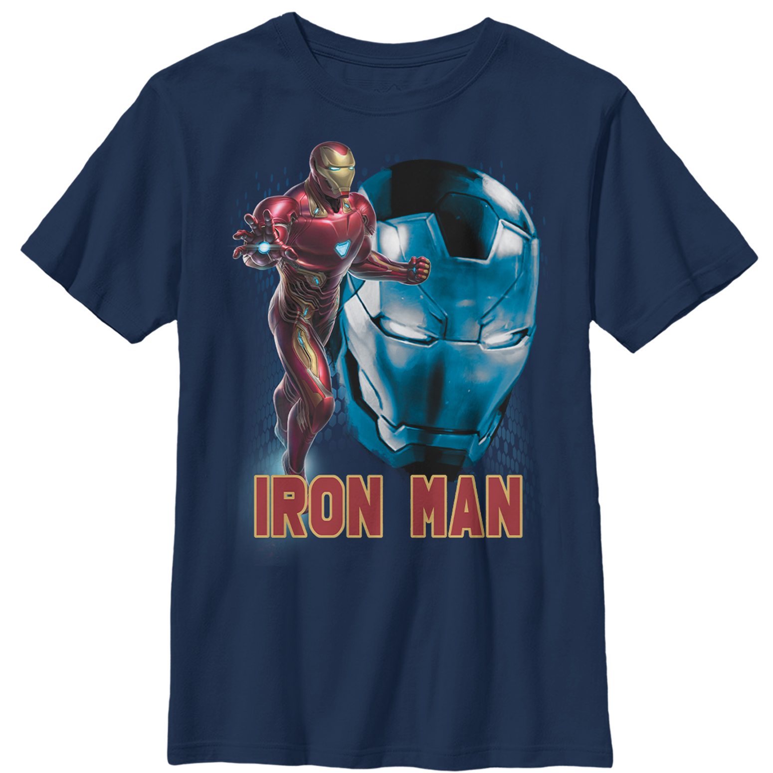 Marvel Boys' Avengers: Endgame Iron Man Helmet T-Shirt