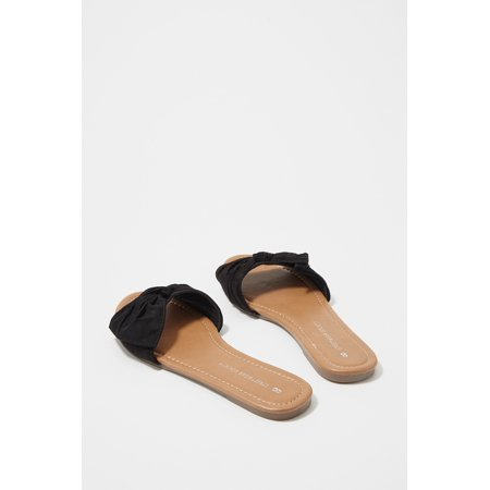 Urban Planet Women's Faux-Suede Bow Band Slide Sandal - image 1 of 3