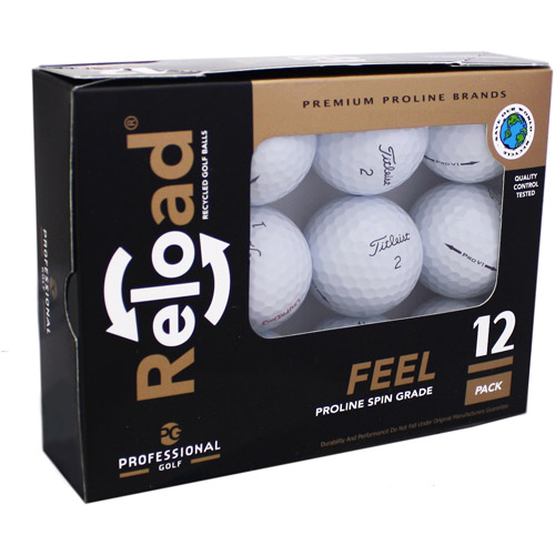 Reload Recycled Golf Balls 12pk Recycled PRO V1 2012 Golf Balls