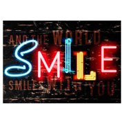 Smile Canvas Wall Art - 40W x 28H in.