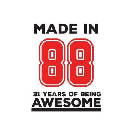 Made In 88 31 Years Of Being Awesome : Made In 88 31 Years Of Awesomeness Notebook - Happy 31st Birthday Being Awesome Anniversary Gift Idea For 1988 Young Kid Boy or Girl! Doodle Diary Book From Dad Mom To Thirty One Year Old Son