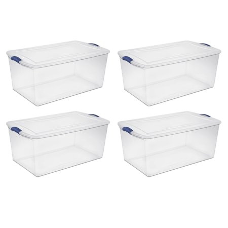 Sterilite, 105 Qt./99 L Latch Box, Case of 4 for $<!---->