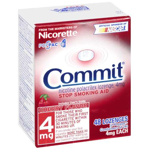 Commit: Cherry Flavor Lozenges 4 Mg Stop Smoking Aid, 48 ct
