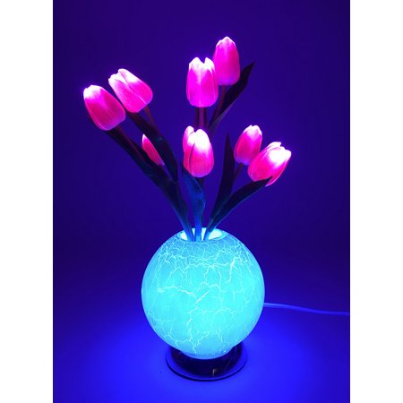 GlowCity Light Up LED Flower Centerpiece Lamp For Wedding Reception - Small Pink for $<!---->