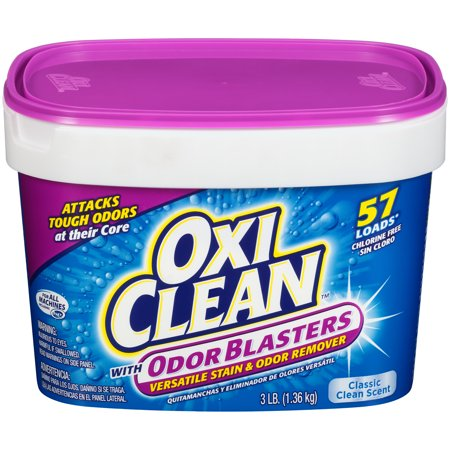 OxiClean Odor Blasters Versatile Stain Remover, 3 lb (Oxy Clean Stain Remover Powder)