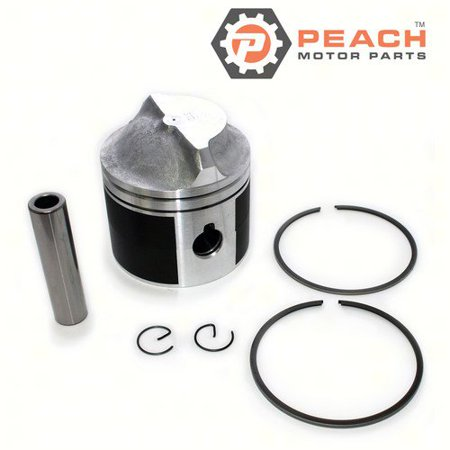 Peach Motor Parts PM-5006661  PM-5006661 Piston Assembly (Includes Piston, Rings, Clips, Pin) (Standard); Replaces Johnson Evinrude OMC®: 5006661, 0393924, 393924, 0393271, 393271, 5006658, Wiseco®: -