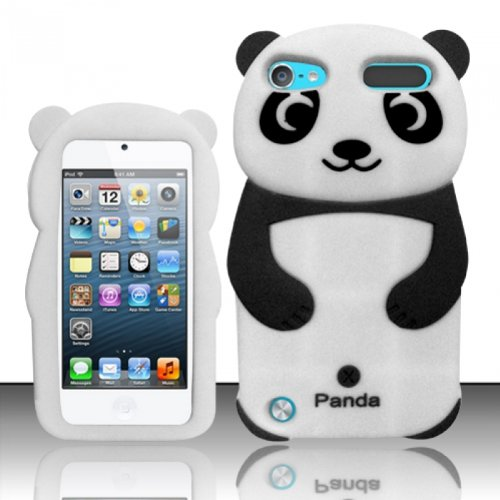 Silicone Skin Case for Apple iPod Touch 5th Gen - Black Panda