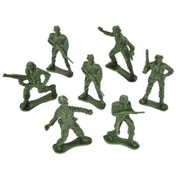 Classic Green Army Men Toy Soldiers (package of 144)
