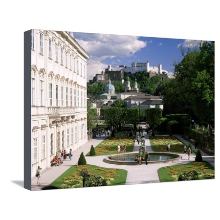 Mirabell Gardens and the Old City, Unesco World Heritage Site, Salzburg, Austria Stretched Canvas Print Wall Art By Gavin Hellier - Party City Official Site