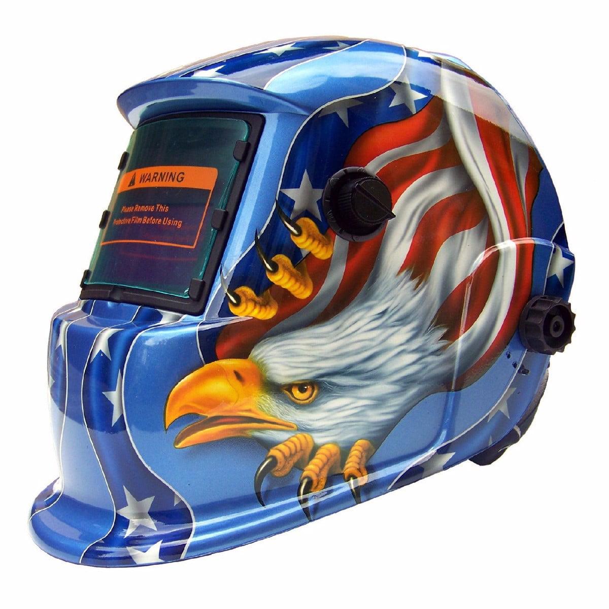 Adjustable Welding Helmet Arc Tig Mig Grinding Welder Mask Head Protect Blue