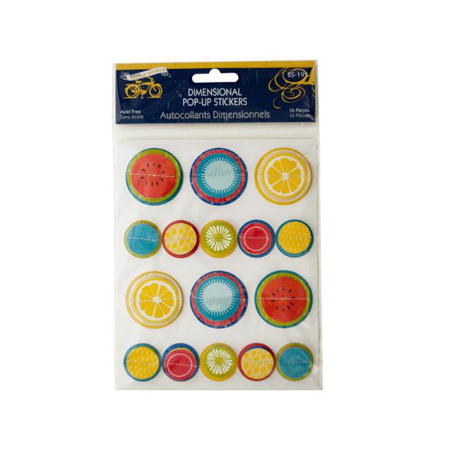 Bulk Buys CG586-96 Cardstock Stickers Fall