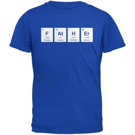 Father's Day - FAtHEr Periodic Elements Metro Blue Adult T-Shirt (Metro Element)
