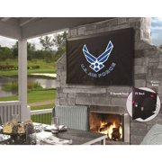 Holland Bar Stool TV50AirFor United States Air force Vinyl TV Cover, Black