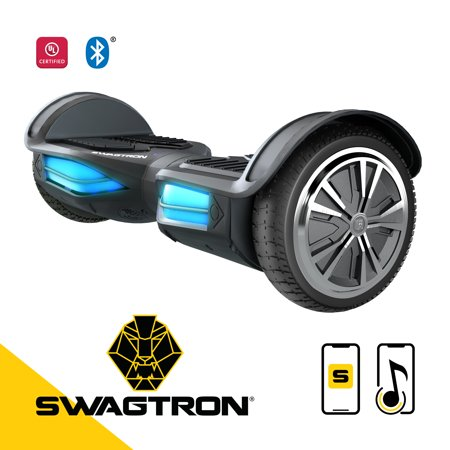 Swagtron Swagboard Elite Hoverboard – Bluetooth Speaker & Lights, Personalize Experience w/Android/iOS App (Personalized Shelf)
