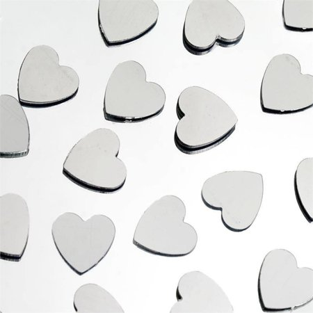Efavormart Dreamy Metallic Foil Wedding-Party Heart Confetti Sprinkles- 300 PCS-Silver for $<!---->
