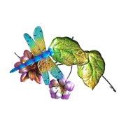 Continental Art Center Dragonfly Birdbath Fountain Topper with Plug-in Pump