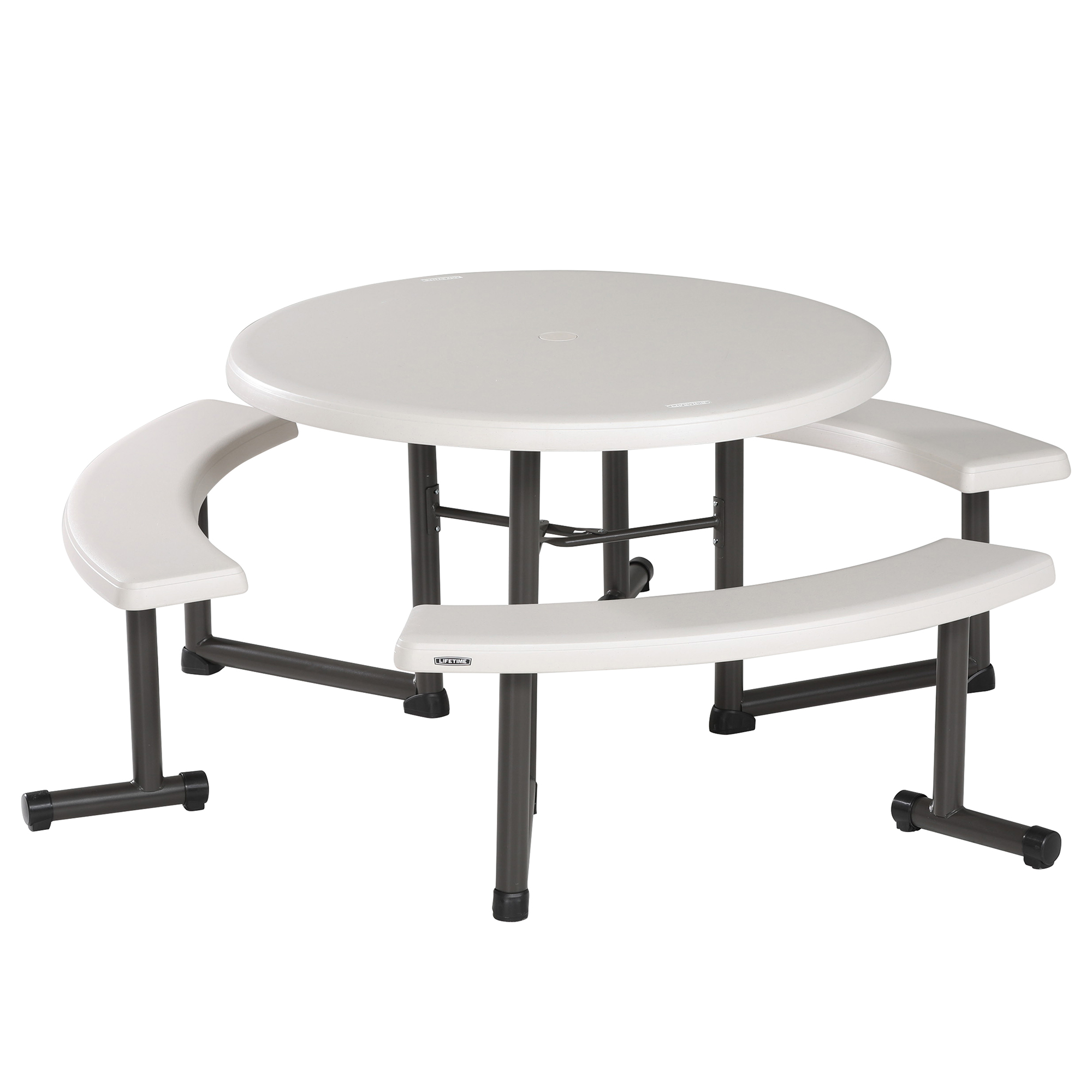 Lifetime 44-Inch Round Picnic Table, 260205 by Lifetime Products