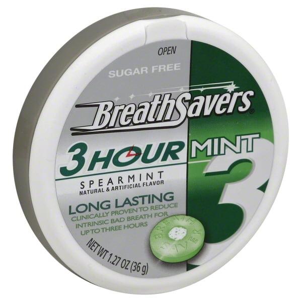 Breath Savers Sugar Free Mints In Spearmint Flavor 1 27 Oz Walmart Com Walmart Com