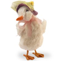 """11"""" Dainty Duckling with Easter Bonnet Decor"""