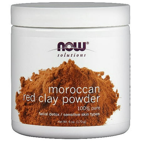 Foods Red Clay Powder - Now Moroccan Red Clay Powder 6 oz(s)