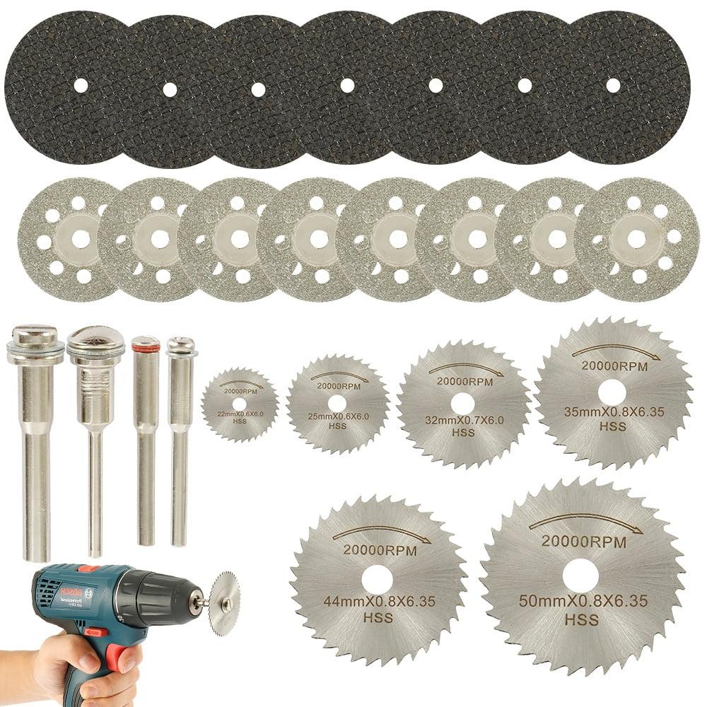 Diamond Cutting Wheel Disc Grinding Tool Kit for Dremel Rotary Drill w//Mandrel