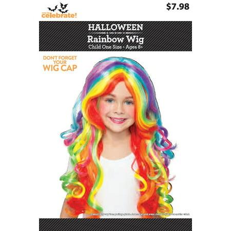 Halloween Rainbow Kids Wig - Walmart.com 6379edd63a7d
