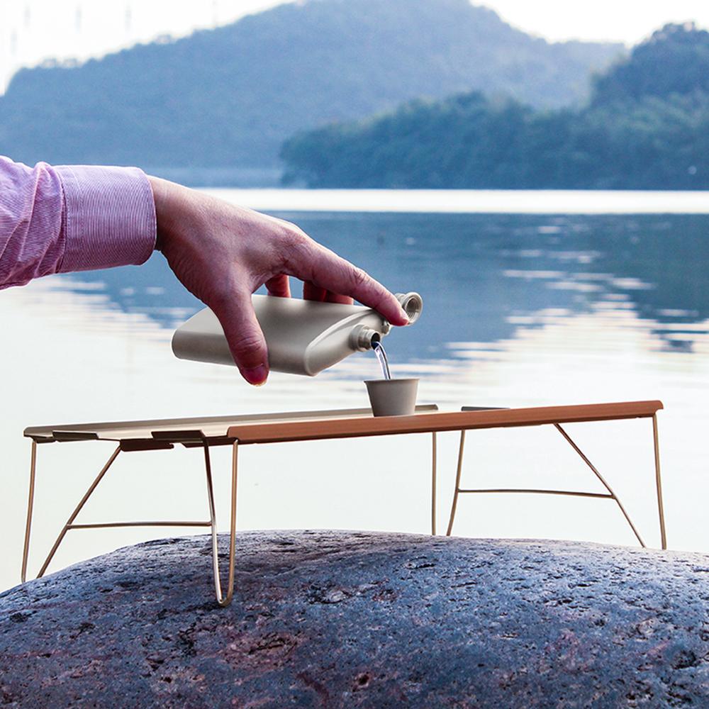 Titanium Pocket Hip Flasks for Men Women Camping Hiking Travel Garden Party