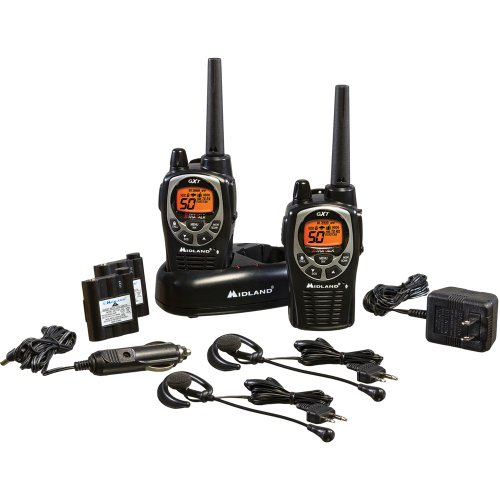 Midland GXT1000VP4 36-Mile 50-Channel FRS/GMRS Two-Way Radio (Pair) (Black/Silver)