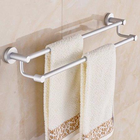 Aluminum alloy double towel rail holder rack kitchen for Double towel rails for bathrooms