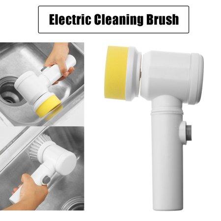 - 5-in-1 Magic Brush Electric Powerful Cleaning Brush for Kitchen Bathtub Bidet Sofas Carpets Scrubber Brush