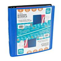 Pen + Gear 3-Ring Binder Bundle, 1.5 Blue, D-Ring