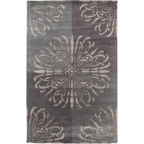 Art of Knot Grant Pewter Wool/Viscose Area Rug