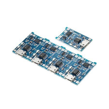 5pcs 5V 1A Micro USB 18650 Lithium Battery Charging + Protection Circuit Board Module - image 6 de 7