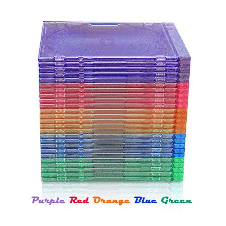 CheckOutStore 400 SLIM ASSORTED Color CD Jewel Cases