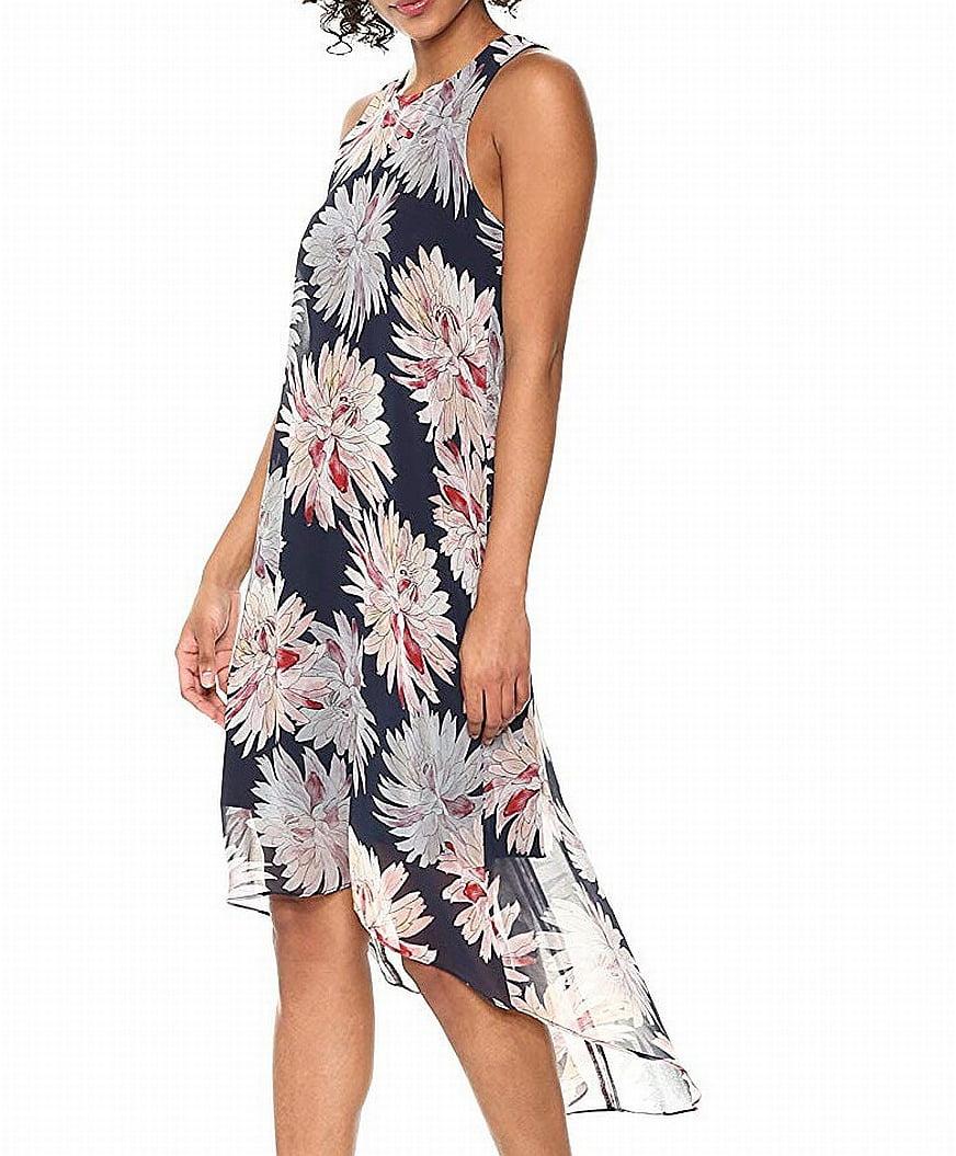 Etched Lotus Hi-Lo Hem Dress