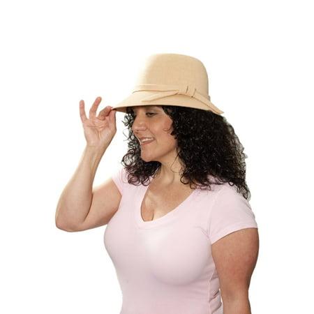 Roaring 20s Flapper Hat (Beige) - Flapper Hat