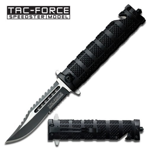 Tac Force TF-710BK Assisted Opening Folding Knife (5-Inch Closed) Multi-Colored