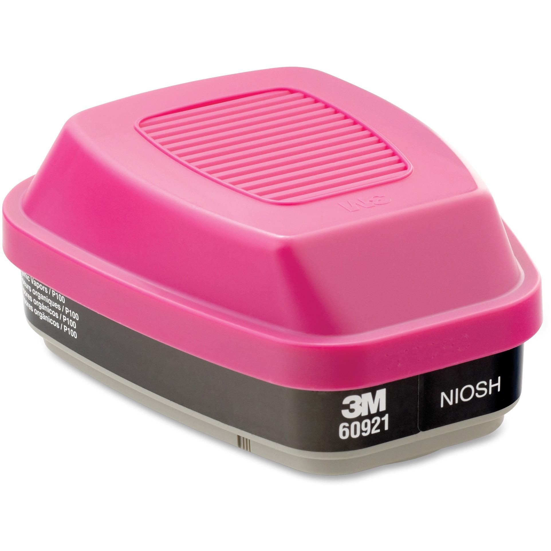 3M, MMM60921, 60921 Organic Vapor Cartridge/Filter, 2, Black,Pink