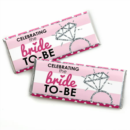 Bride-To-Be - Candy Bar Wrappers Bridal Shower & Classy Bachelorette Party Favors - Set of 24 - Bridal Shower Favor Tags